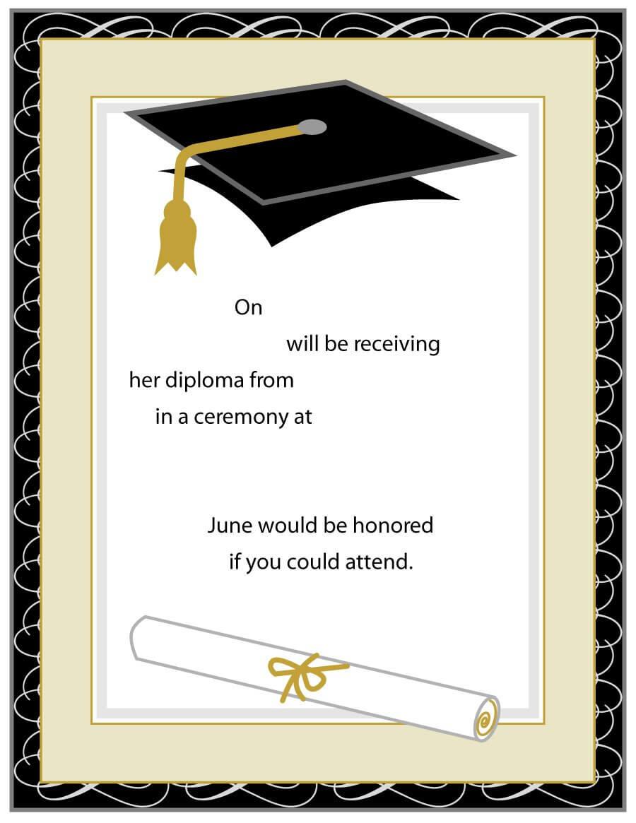 40+ Free Graduation Invitation Templates ᐅ Template Lab Within Free Graduation Invitation Templates For Word