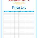 40 Free Price List Templates (Price Sheet Templates) ᐅ in Rate Card Template Word