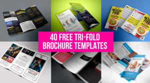 40 Free Professional Tri-Fold Brochures For Business inside Free Three Fold Brochure Template