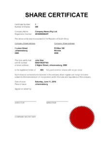40+ Free Stock Certificate Templates (Word, Pdf) ᐅ Template Lab intended for Template For Share Certificate