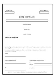 40+ Free Stock Certificate Templates (Word, Pdf) ᐅ Template Lab Regarding Template Of Share Certificate