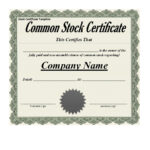 40+ Free Stock Certificate Templates (Word, Pdf) ᐅ Template Lab Throughout Blank Share Certificate Template Free
