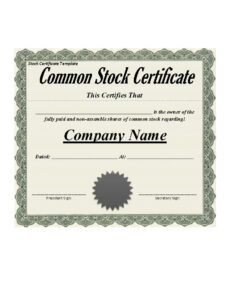 40+ Free Stock Certificate Templates (Word, Pdf) ᐅ Template Lab with regard to Share Certificate Template Pdf