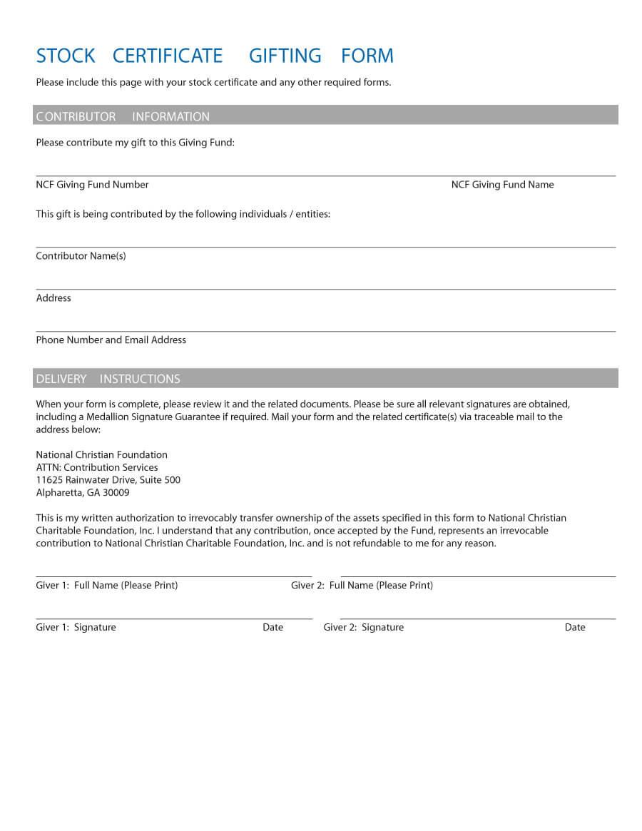 40+ Free Stock Certificate Templates (Word, Pdf) ᐅ Template Lab With Template For Share Certificate
