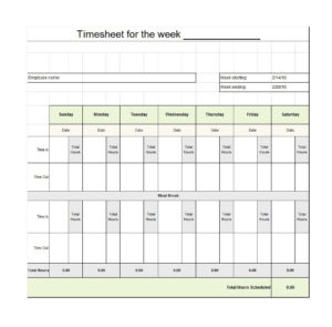 40 Free Timesheet / Time Card Templates ᐅ Template Lab pertaining to Weekly Time Card Template Free