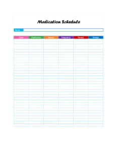 40 Great Medication Schedule Templates (+Medication Calendars) within Med Card Template