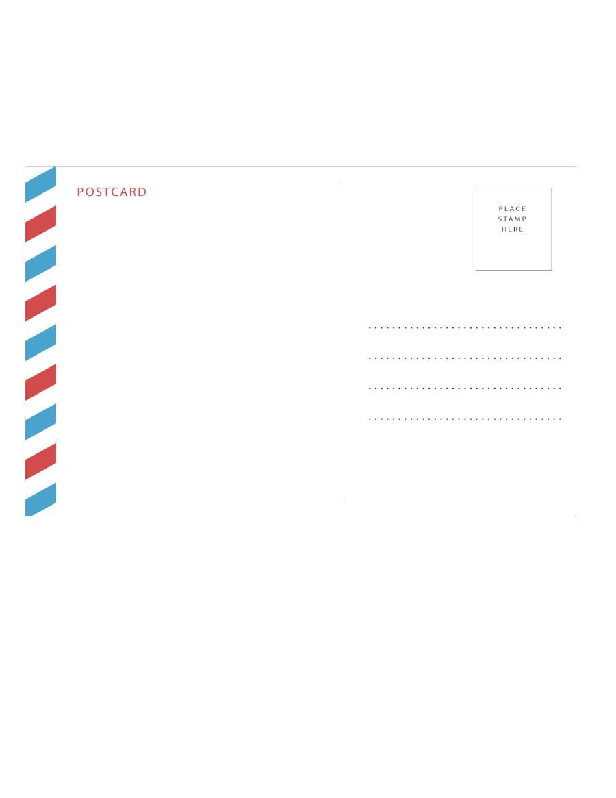 40+ Great Postcard Templates & Designs [Word + Pdf] ᐅ Throughout Post Cards Template