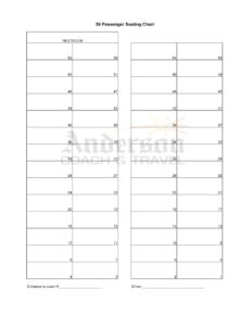 40+ Great Seating Chart Templates (Wedding, Classroom + More) inside Wedding Seating Chart Template Word