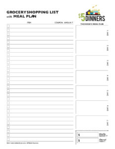 40+ Printable Grocery List Templates (Shopping List) ᐅ pertaining to Blank Grocery Shopping List Template