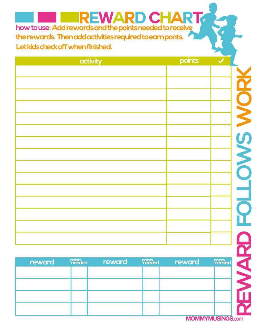 40 Printable Reward Charts For Kids (Pdf, Excel & Word) In Reward Chart Template Word