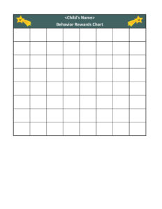 40 Printable Reward Charts For Kids (Pdf, Excel & Word) Intended For Reward Chart Template Word