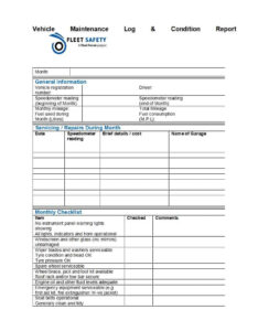 40 Printable Vehicle Maintenance Log Templates ᐅ Template Lab regarding Fleet Report Template