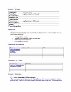 40+ Simple Business Requirements Document Templates ᐅ In Report Specification Template