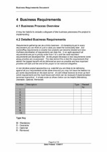 40+ Simple Business Requirements Document Templates ᐅ inside Report Requirements Document Template