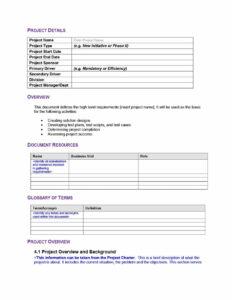 40+ Simple Business Requirements Document Templates ᐅ regarding Cognos Report Design Document Template