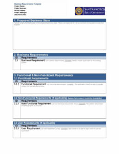40+ Simple Business Requirements Document Templates ᐅ with Report Requirements Document Template
