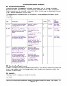 40+ Simple Business Requirements Document Templates ᐅ With Report Specification Template