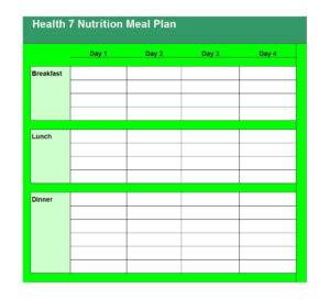 40+ Weekly Meal Planning Templates ᐅ Template Lab pertaining to Meal Plan Template Word
