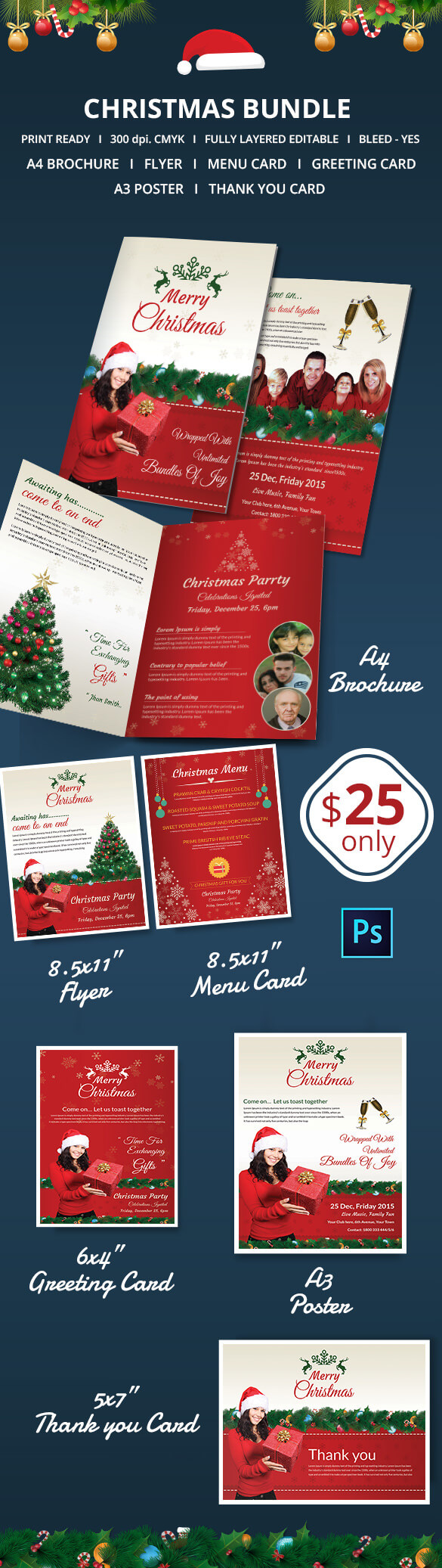 41+ Christmas Brochures Templates - Psd, Word, Publisher With Christmas Brochure Templates Free