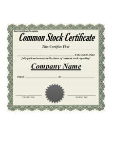 41 Free Stock Certificate Templates (Word, Pdf) – Free Inside Share Certificate Template Australia