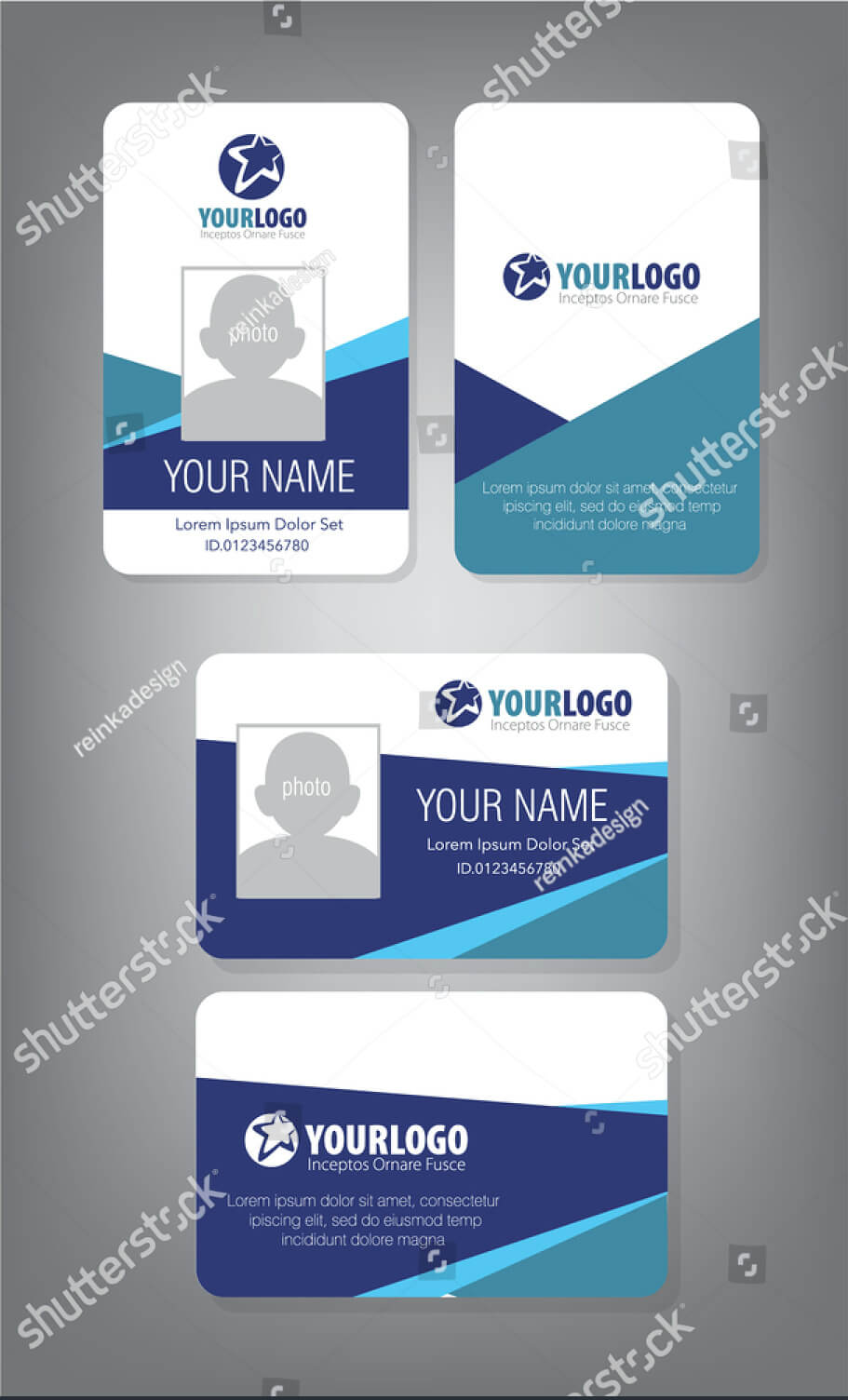 43+ Professional Id Card Designs - Psd, Eps, Ai, Word | Free Pertaining To Portrait Id Card Template