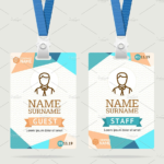 43+ Professional Id Card Designs – Psd, Eps, Ai, Word | Free With Portrait Id Card Template