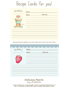44 Perfect Cookbook Templates [+Recipe Book & Recipe Cards] intended for Recipe Card Design Template