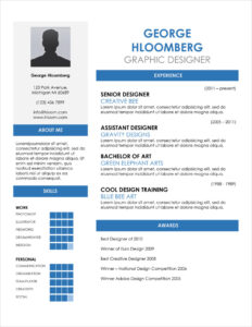 45 Free Modern Resume / Cv Templates – Minimalist, Simple regarding Free Downloadable Resume Templates For Word