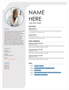45 Free Modern Resume / Cv Templates – Minimalist, Simple with Free Resume Template Microsoft Word