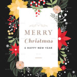 45+Christmas Premium & Free Psd Holiday Card Templates For Pertaining To Christmas Photo Card Templates Photoshop