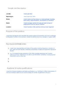 47 Job Description Templates & Examples ᐅ Template Lab Intended For Job Descriptions Template Word