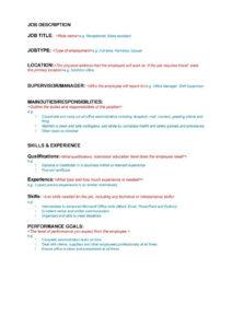 47 Job Description Templates & Examples ᐅ Template Lab Regarding Job Descriptions Template Word
