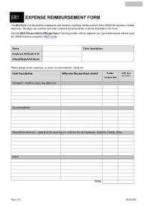 47 Reimbursement Form Templates [Mileage, Expense, Vsp] throughout Reimbursement Form Template Word