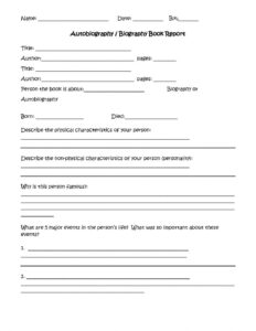 4Th Grade Book Report Template Stretching And Conditioning with Book Report Template 4Th Grade
