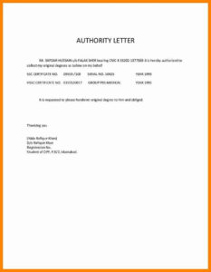 5 Authorization Letter For Document Collection Catering in Certificate Of Authorization Template