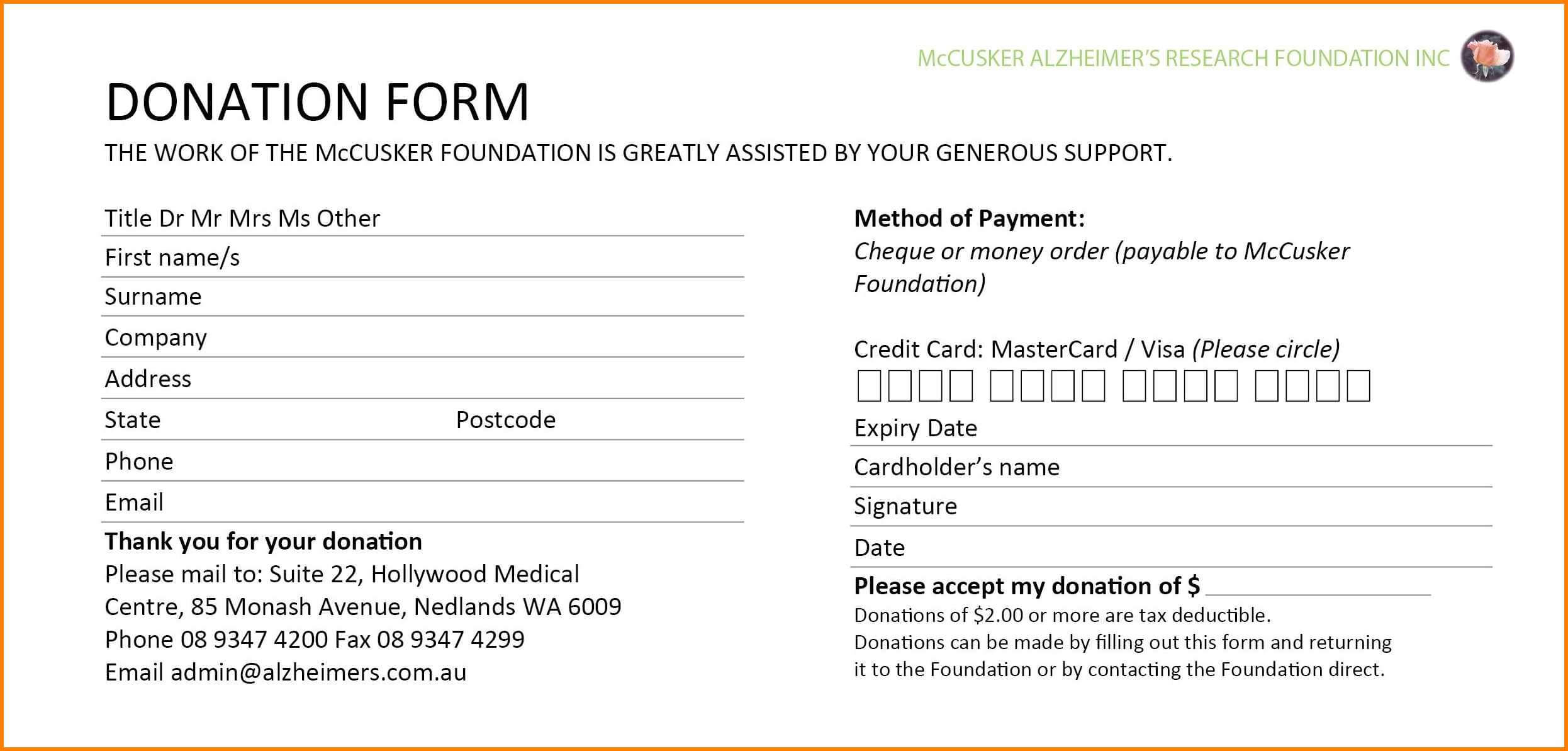 5+ Donation Card Template | Instinctual Intelligence With Donation Cards Template