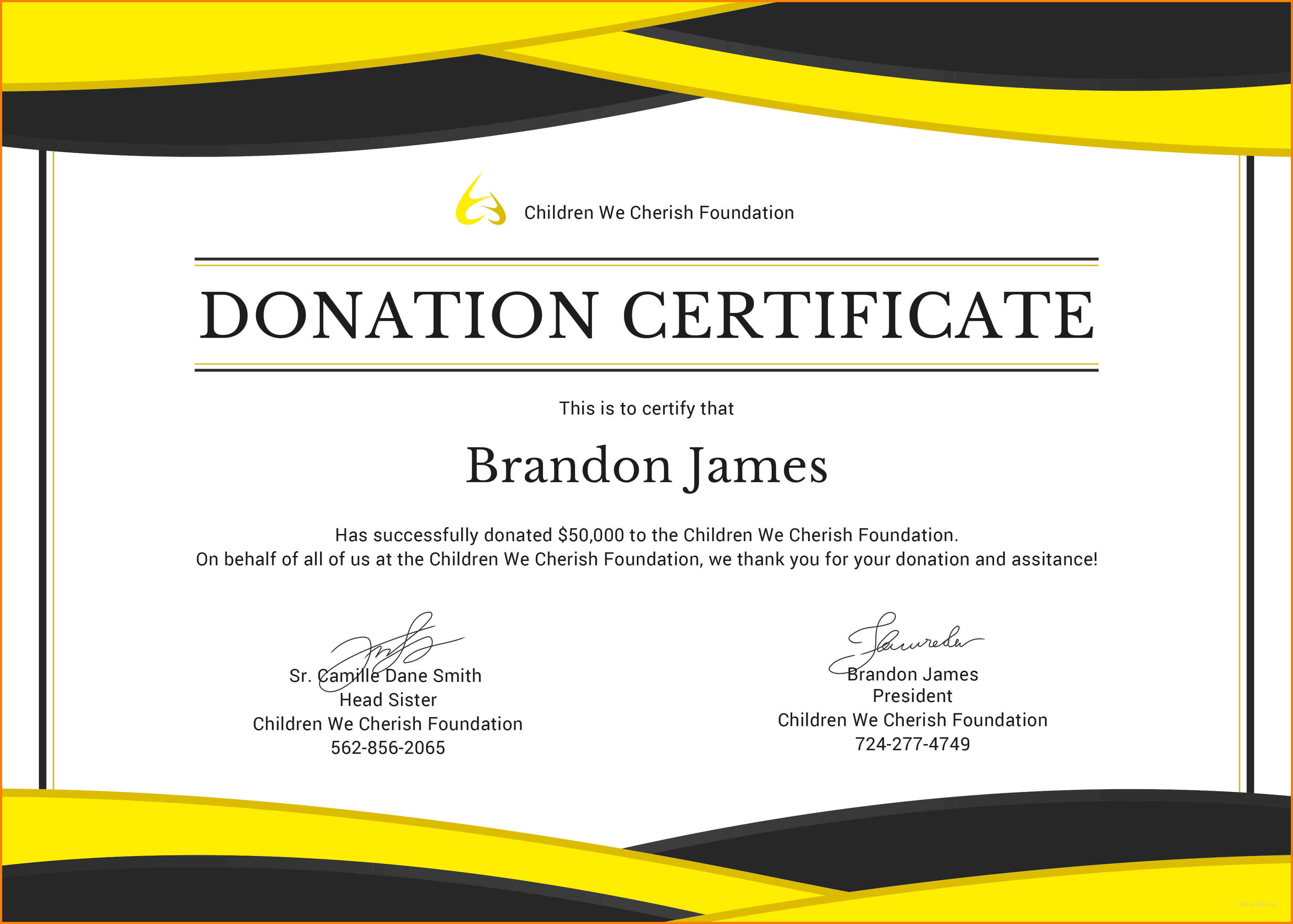 5+ Donation Certificate Template | Instinctual Intelligence With Regard To Donation Certificate Template