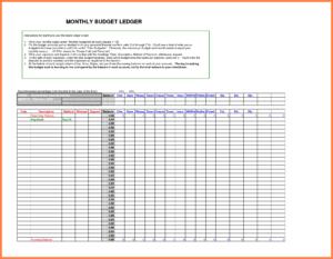 5+ Free Bookkeeping Ledger Template | Andrew Gunsberg inside Blank Ledger Template