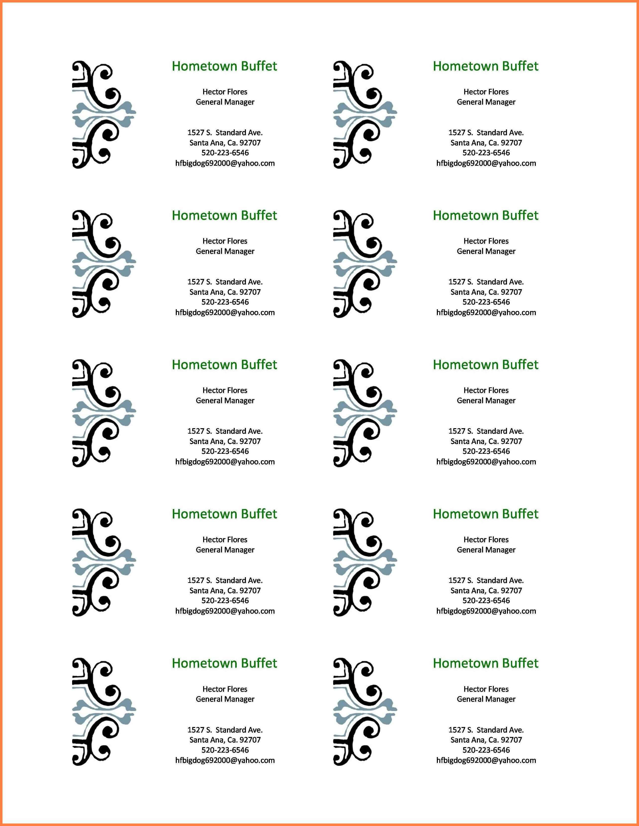 5+ Free Business Card Template Word   Andrew Gunsberg Pertaining To Word Template For Business Cards Free