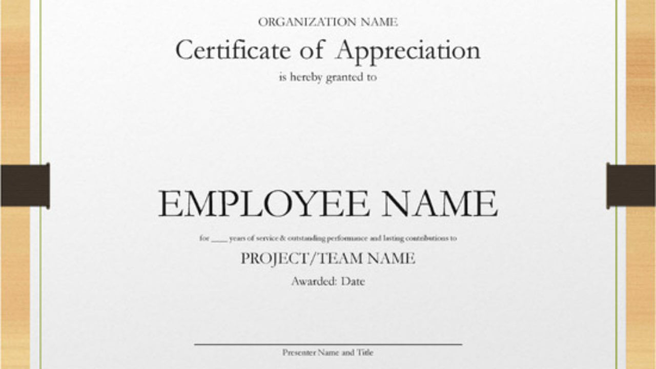 5+ Printable Years Of Service Certificate Templates – Word With Long Service Certificate Template Sample