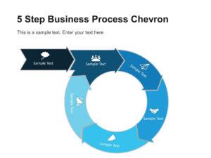 5 Step Business Process Chevron Diagram Template | Chevron in Powerpoint Chevron Template
