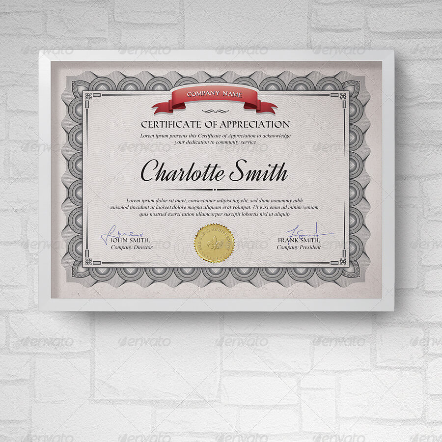 50+ Diploma And Certificate Templates In Psd Word Vector Eps With Officer Promotion Certificate Template