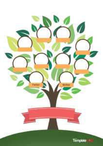50+ Free Family Tree Templates (Word, Excel, Pdf) ᐅ with Fill In The Blank Family Tree Template