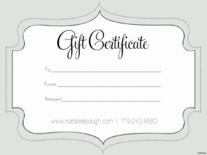 50 Free Gift Card Templates | Culturatti with Nail Gift Certificate Template Free