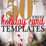50 + Free Holiday Photo Card Templates | Moritz Fine Designs For Free Holiday Photo Card Templates