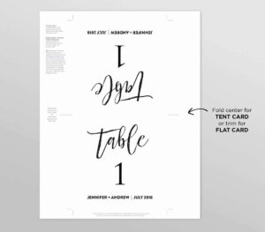 50 Free Table Tent Template | Culturatti with regard to Table Tent Template Word