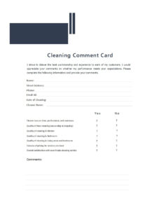 50 Printable Comment Card & Feedback Form Templates ᐅ in Survey Card Template