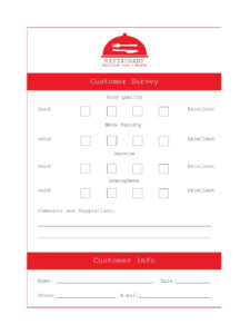 50 Printable Comment Card & Feedback Form Templates ᐅ within Customer Information Card Template