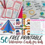 50 Printable Valentine Cards For Kids With Regard To Valentine Card Template For Kids