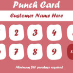 50+ Punch Card Templates – For Every Business (Boost Pertaining To Free Printable Punch Card Template